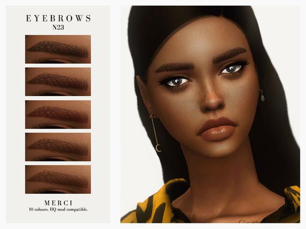 Sims 4 Eyebrows N23 by Merci at TSR