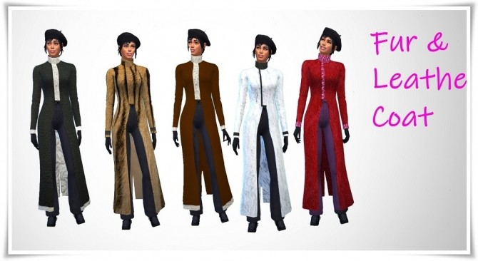 Sims 4 Fur & Leather Coat at Birksches Sims Blog