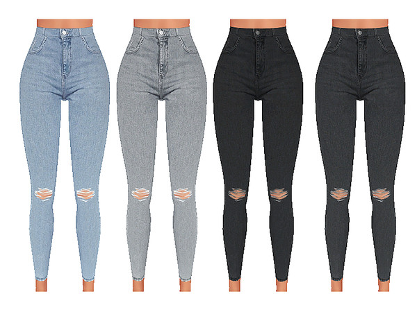 High Waisted Soft Denim Jeans by Pinkzombiecupcakes at TSR image 5616 Sims 4 Updates