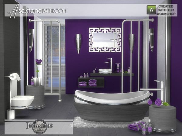 Asoxtane bathroom by jomsims at TSR image 5618 Sims 4 Updates