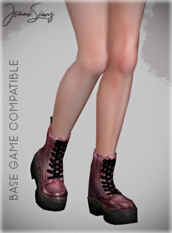 Sims 4 Boots Base Game compatible 16 designs at Jenni Sims