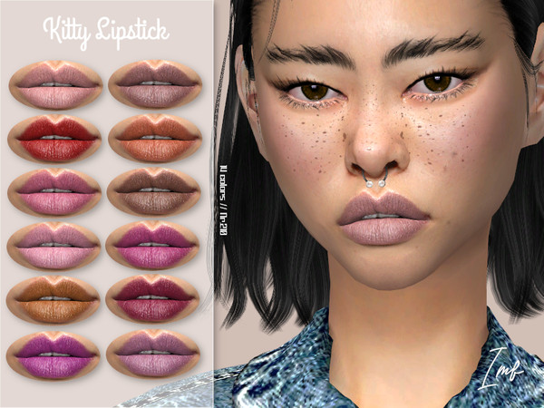 IMF Kitty Lipstick N.210 by IzzieMcFire at TSR image 568 Sims 4 Updates