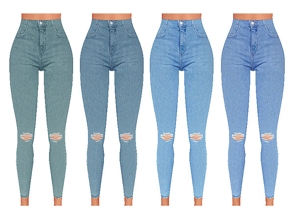 High Waisted Soft Denim Jeans by Pinkzombiecupcakes at TSR image 5716 Sims 4 Updates