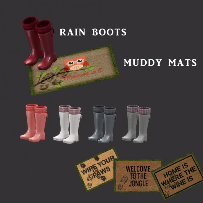Sims 4 Boots and Mats at Leo Sims