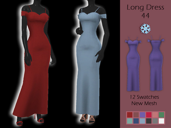 LMCS Long Dress 44 by Lisaminicatsims at TSR image 590 Sims 4 Updates