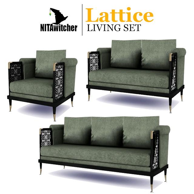 Lattice living set at NITA image 5913 Sims 4 Updates