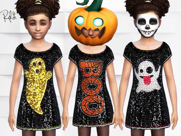 Sims 4 Halloween Girls Dresses by RobertaPLobo at TSR
