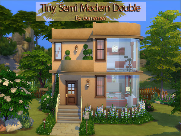 Tiny Semi Modern Double home by oumamea at TSR image 6014 Sims 4 Updates