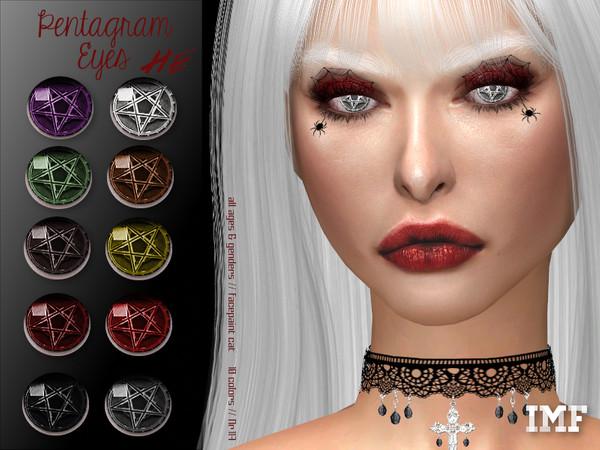 Sims 4 IMF Pentagram Eyes N.117 by IzzieMcFire at TSR