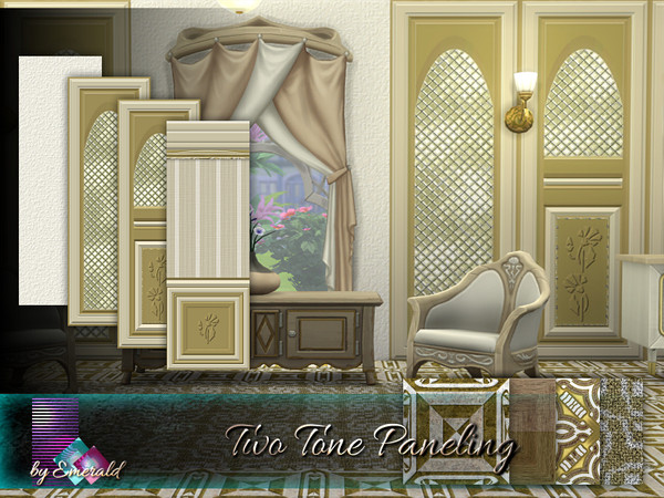 Sims 4 Two Tone Paneling by emerald at TSR