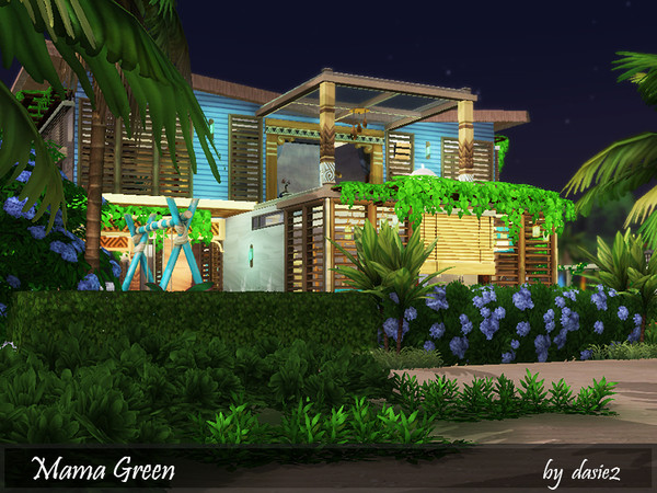 Sims 4 Mama Green house by dasie2 at TSR