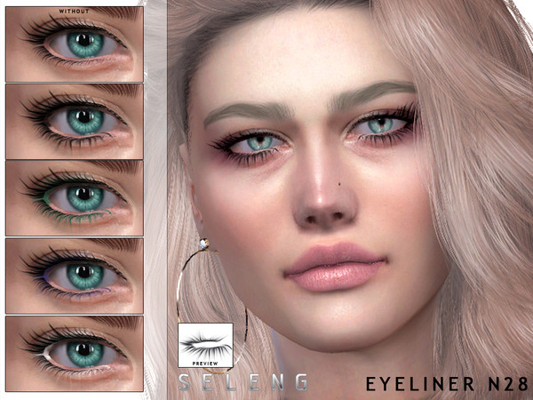 Eyeliner N28 by Seleng at TSR image 607 Sims 4 Updates