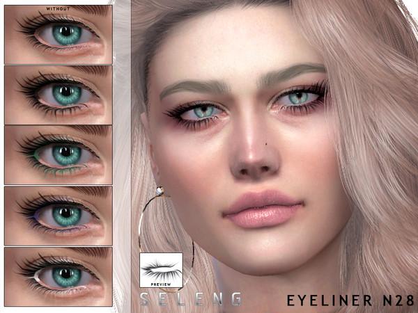 Sims 4 Eyeliner N28 by Seleng at TSR