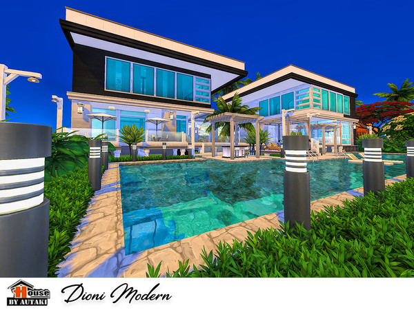 Dioni Modern house by autaki at TSR image 626 Sims 4 Updates