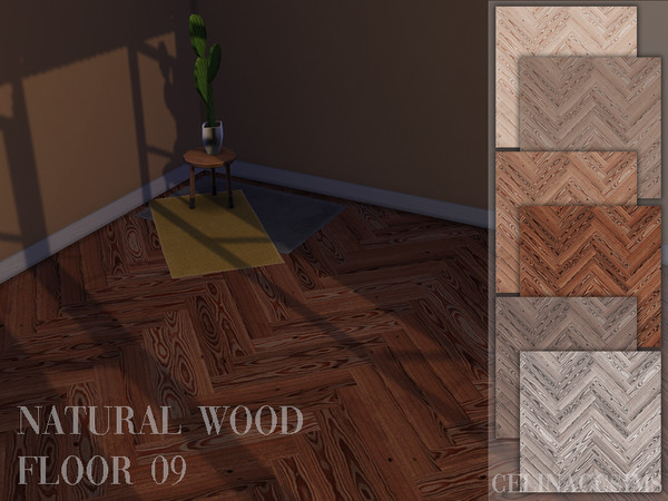 Sims 4 Natural Wood Floor 09 by celinaccsims at TSR