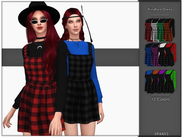 Sims 4 Pinafore Dress by OranosTR at TSR