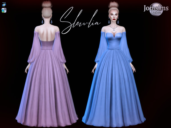 Slewlia Dress by jomsims at TSR image 646 Sims 4 Updates