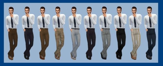 Sims 4 BG LONGLINE PANTS (M) at Sims4Sue