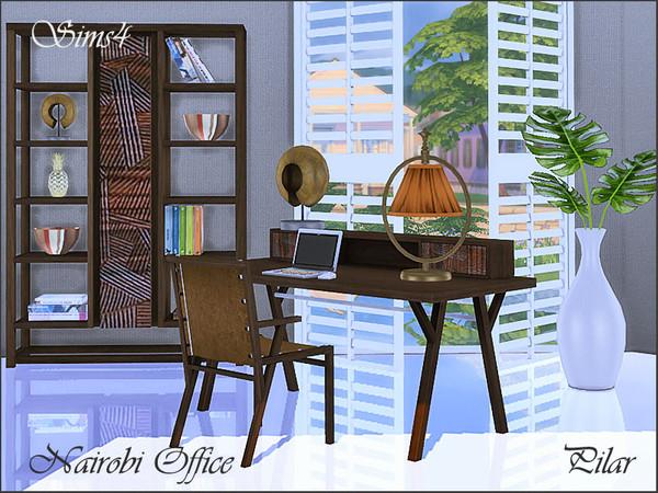 Nairobi Office by Pilar at TSR image 65 Sims 4 Updates