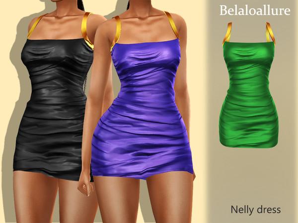 Sims 4 Belaloallure Nelly dress by belal1997 at TSR