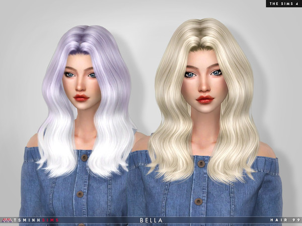 Bella Hair 99 by TsminhSims at TSR image 656 Sims 4 Updates