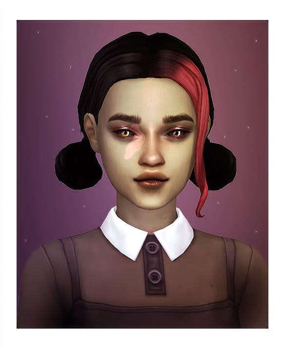 Happy Simblreen set: hairs, eyeshadow, lipstick, bodysuit & skirt at Isjao – working on uni image 6714 Sims 4 Updates