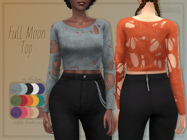 Full Moon Top by Trillyke at TSR image 6716 Sims 4 Updates