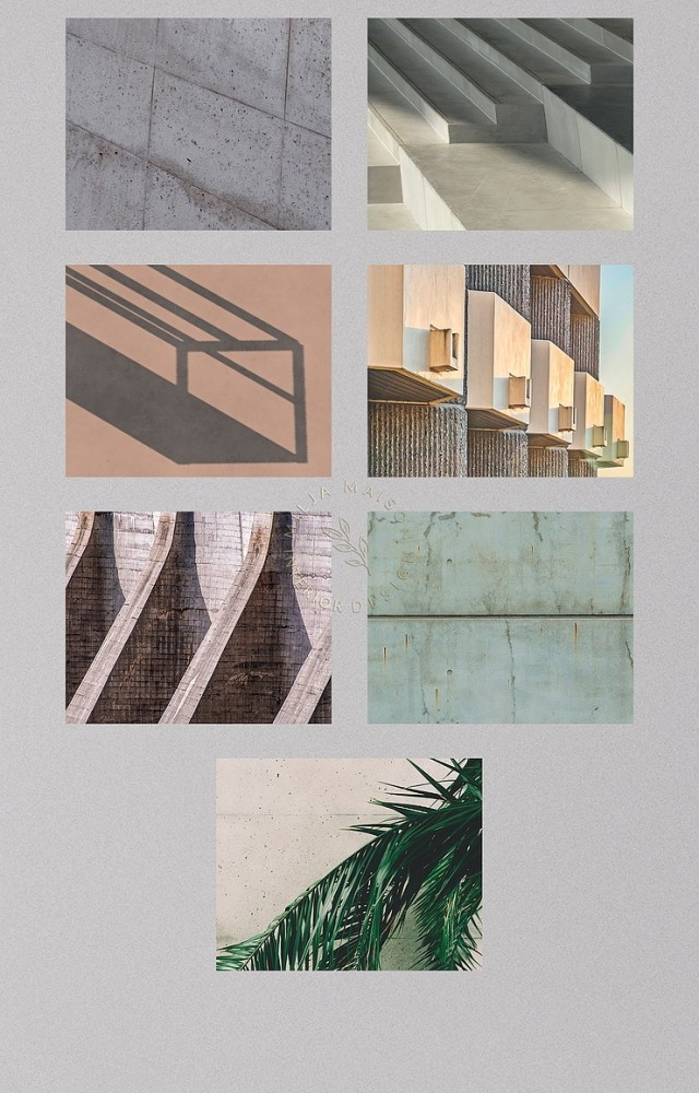 Beautiful brutalist architecture paintings by Milja Maison at Blooming Rosy image 672 640x1000 Sims 4 Updates