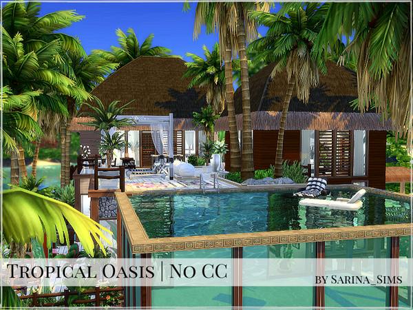 Sims 4 Tropical Oasis by Sarina Sims at TSR