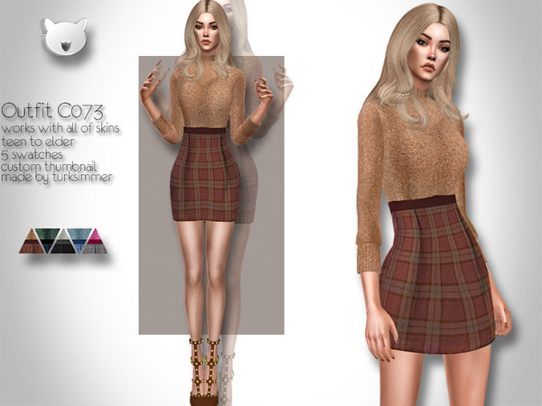 Outfit C073 by turksimmer at TSR image 690 Sims 4 Updates