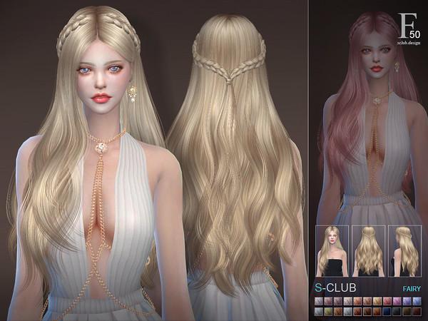 Sims 4 Hair fairy n50 by S Club at TSR