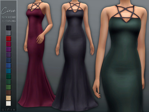 Circe Gown by Sifix at TSR image 6919 Sims 4 Updates