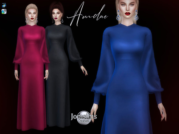 Amdae dress by jomsims at TSR image 696 Sims 4 Updates