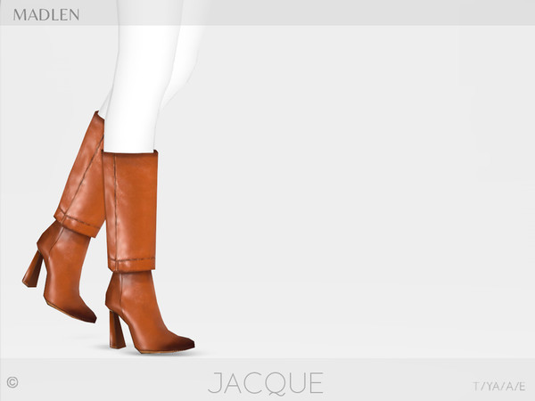Sims 4 Madlen Jacque Boots by MJ95 at TSR