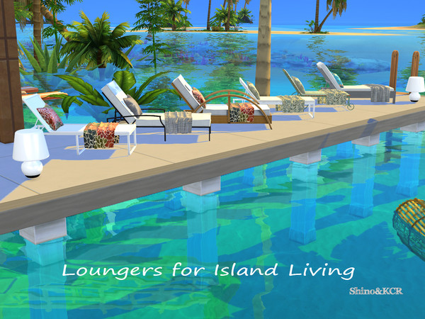 Lounger Set for Island Living by ShinoKCR at TSR image 7019 Sims 4 Updates