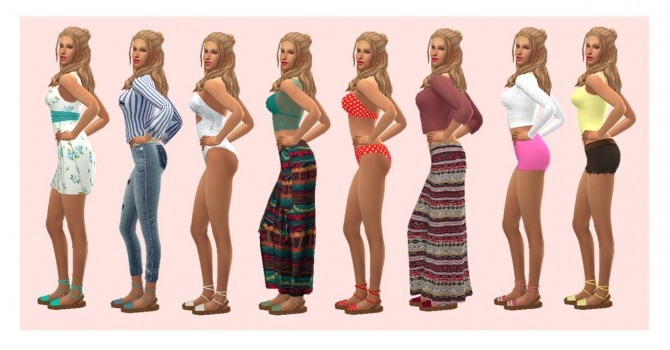 S4NEXUS ANKLE TIED SANDALS RECOLOR at Sims4Sue image 707 670x350 Sims 4 Updates