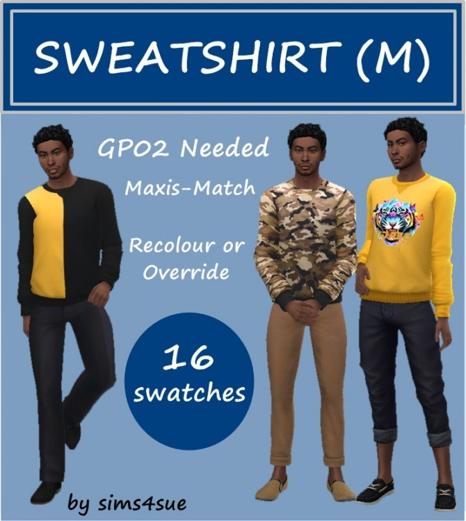 GP02 SWEATSHIRT M at Sims4Sue image 709 670x750 Sims 4 Updates