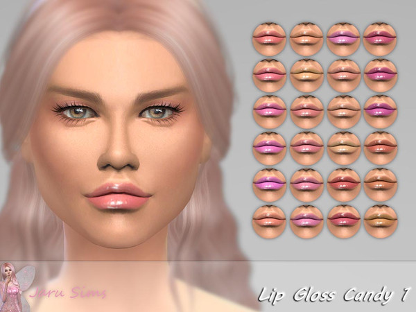 Sims 4 Lip Gloss Candy 1 by Jaru Sims at TSR