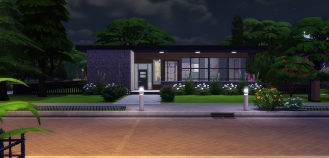 Sims 4 Modern Neptune house No CC by EzzieValentine at Mod The Sims