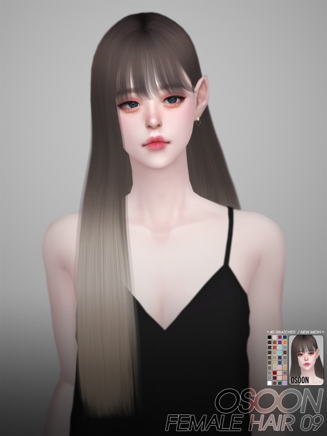 Female Hair 09 at Osoon image 7118 670x893 Sims 4 Updates