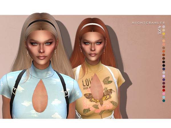 Alice hair by Nightcrawler Sims at TSR image 7120 Sims 4 Updates