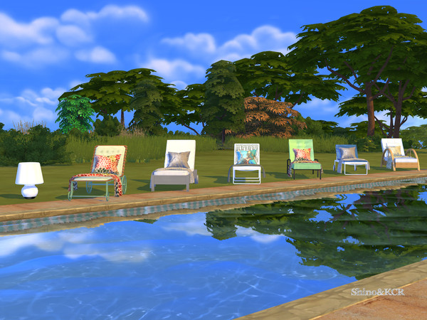 Lounger Set for Island Living by ShinoKCR at TSR image 7123 Sims 4 Updates