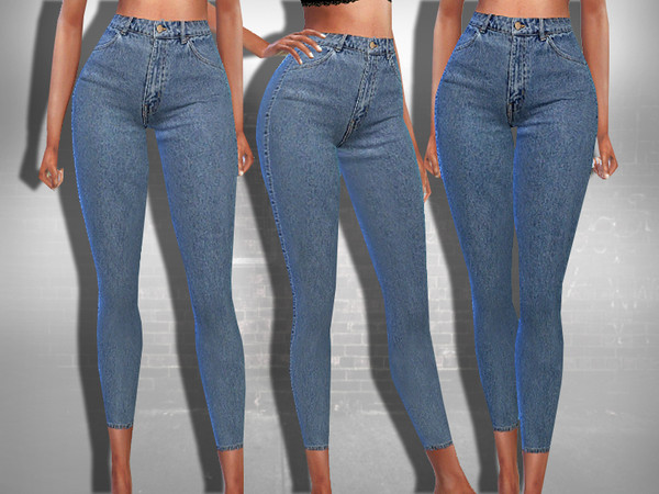 Sims 4 Ankle Style Skinny Fit Jeans by Saliwa at TSR