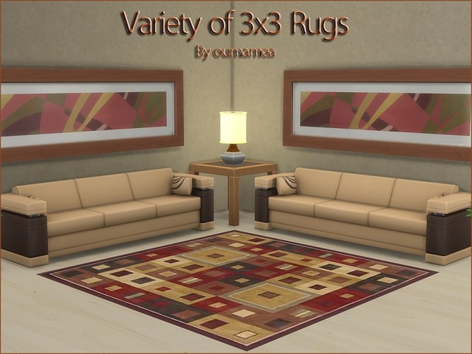 Variety of Square 3x3 rugs by oumamea at Mod The Sims image 7217 670x503 Sims 4 Updates