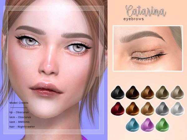 Sims 4 Catarina Female Brows by Screaming Mustard at TSR