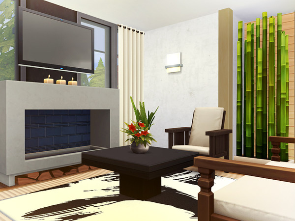 Sims 4 Jaye contemporary cottage by Rirann at TSR