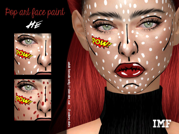 Sims 4 IMF Popart Facepaint by IzzieMcFire at TSR