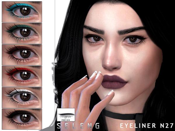 Sims 4 Eyeliner N27 by Seleng at TSR