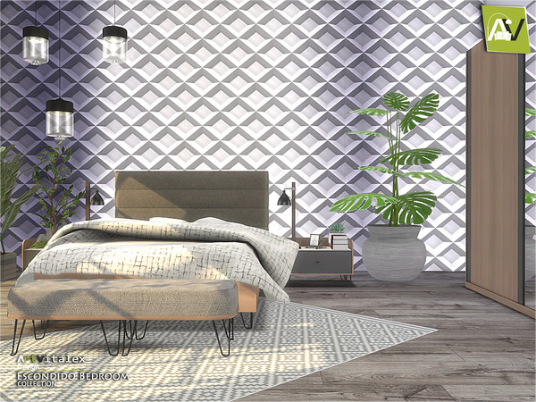 Escondido Bedroom by ArtVitalex at TSR image 736 Sims 4 Updates
