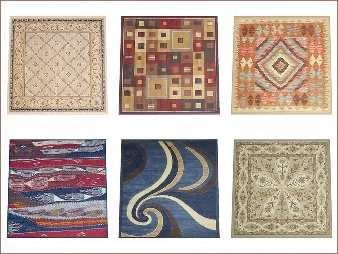 Variety of Square 3x3 rugs by oumamea at Mod The Sims image 7416 670x503 Sims 4 Updates
